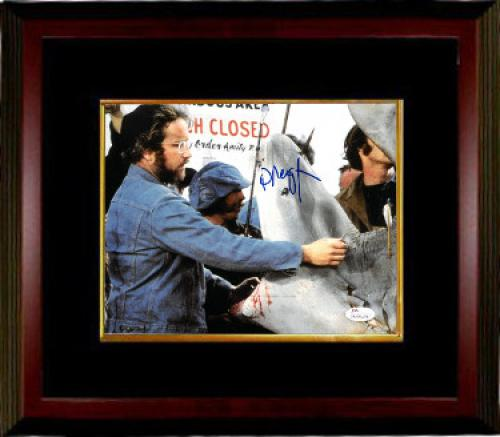 Richard Dreyfuss signed Jaws 8x10 Photo Custom Framing (Shark w/ Open Mouth)- JSA Witnessed Hologram