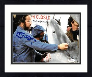 Richard Dreyfuss signed Jaws 8x10 Photo (Shark w/ Open Mouth) (Left Side Sig)- JSA Witnessed Hologram