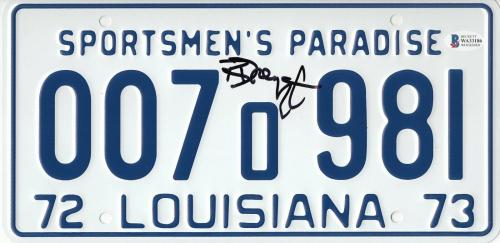 Richard Dreyfuss Signed Jaws Auto License Plate Authenticated Beckett Bas Coa