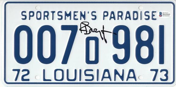 Richard Dreyfuss Signed Jaws Autograph License Plate Matt Hooper Beckett Bas Coa