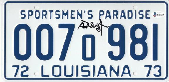Richard Dreyfuss Signed Jaws Autographed License Plate Beckett Witness Bas Coa