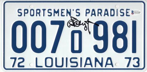 Richard Dreyfuss Signed 'jaws' Autographed License Plate Beckett Witness Bas Coa