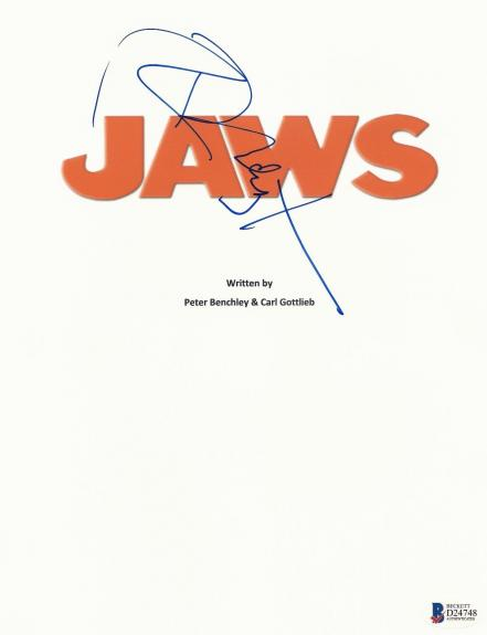 Richard Dreyfuss Signed Jaws Full 127 Page Script Screenplay Authentic Auto Bas