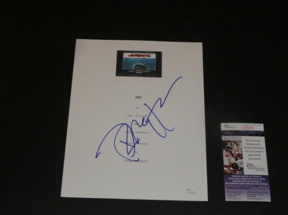 "Richard Dreyfuss Signed ""jaws"" Full Movie Script Autographed Jsa Coa"