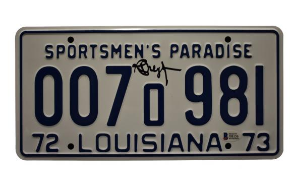 Richard Dreyfuss Signed Jaws License Plate Authentic Autograph Proof Beckett G