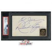 Richard Egan Signed 3x5 Index Card Actor d. 1987 PSA/DNA Love Me Tender