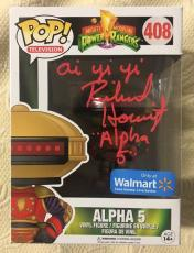 Richard Horvitz Signed Autographed ALPHA 5 Funko Pop Power Rangers Beckett COA3