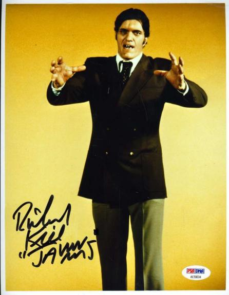 Richard Jaws Kiel Psa Dna Cert Hand Signed James Bond 8x10 Photo Autograph