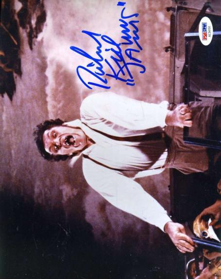 Richard Jaws Kiel Psa Dna Coa Hand Signed James Bond 8x10 Photo Autograph