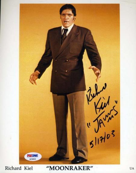 Richard Jaws Kiel Psa Dna Hand Signed James Bond 8x10 Photo Autograph