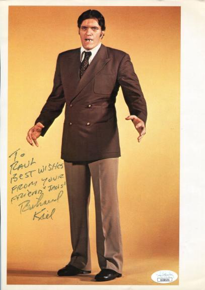 Richard Kiel Autographed 8x10 Photo (JSA)