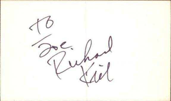 "Richard Kiel d. 2014 Actor The Twilight Zone Signed 3"" x 5"" Index Card"