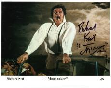RICHARD KIEL HAND SIGNED 8x10 COLOR PHOTO+COA     MOONRAKER   JAWS   JAMES BOND