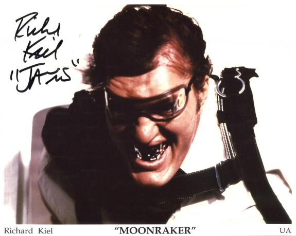 RICHARD KIEL HAND SIGNED 8x10 COLOR PHOTO+COA     MOONRAKER   JAWS    JAMES BOND