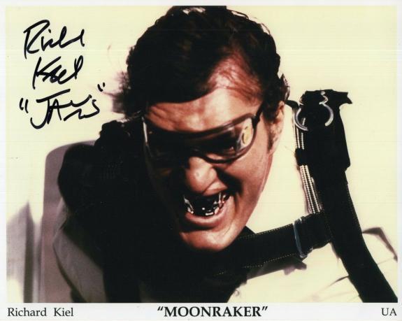 RICHARD KIEL HAND SIGNED 8x10 PHOTO+COA       MOONRAKER      JAWS     JAMES BOND