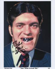 RICHARD KIEL HAND SIGNED 8x10 PHOTO+COA     SPY WHO LOVED ME   JAWS   JAMES BOND