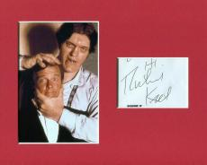 Richard Kiel James Bond Jaws Signed Autograph Photo Display With Roger Moore