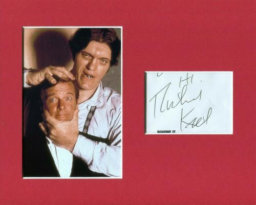 Richard Kiel James Bond Jaws Signed Autograph Photo Display With Roger Moore