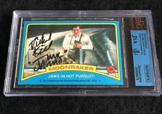 Richard Kiel Signed 1979 James Bond Moonraker Card 'jaws' Autograph Jsa/bvs Bgs