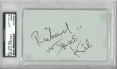 Richard Kiel Signed Authentic Autographed 3x5 Cut Slabbed PSA/DNA #83799404