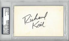 Richard Kiel Signed Autographed 3x5 Index Card Slabbed PSA/DNA #83799348