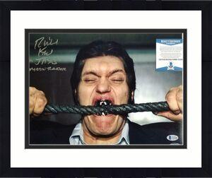 "Richard Kiel signed ""Jaws"" 11x14 #1 Moonraker Autograph + Inscription ~ BAS COA"