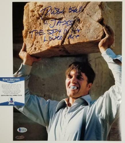 """Richard Kiel signed """"Jaws"""" 11x14 #3 The Spy Who Loved Me + Inscription ~ BAS COA"""