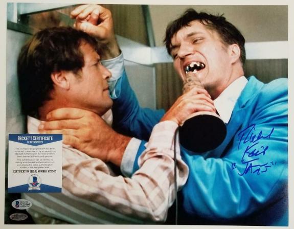 """Richard Kiel signed """"Jaws"""" 11x14 Photo Spy Who Loved Me Autograph ~ BAS COA"""