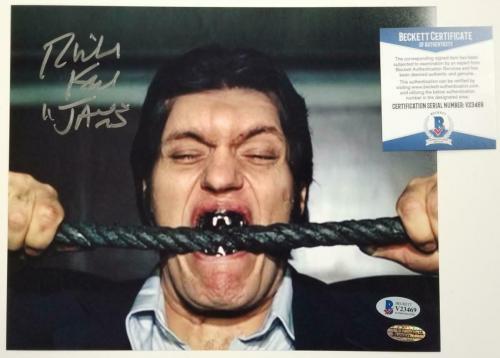 "Richard Kiel signed ""Jaws"" 8x10 Photo #1 Moonraker James Bond Auto ~ BAS COA"