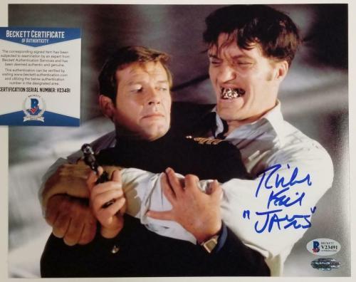 """Richard Kiel signed """"Jaws"""" 8x10 Photo #2 The Spy Who Loved Me Autograph~ BAS COA"""