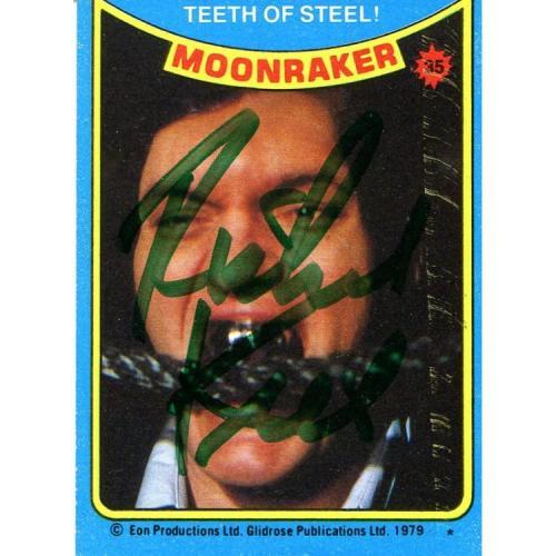 Richard Kiel Autographed 1979 EON Productions Card