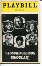 Richard Kiley Geraldine Page Absurd Person Singular 1974 Opening Night Playbill