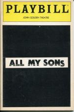 Richard Kiley Stephen Root Arthur Miller All My Sons Opening Night Playbill