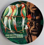 Richard M. Sherman Brothers Signed Disney's The Tiki Room Plate PSA Z154