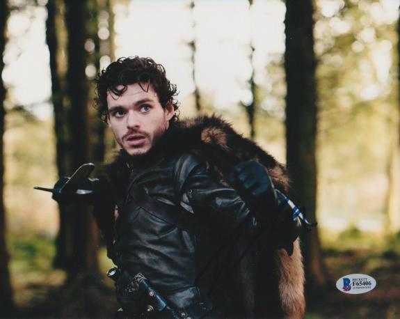 Richard Madden Signed 8x10 Photo Game Of Thrones Beckett Bas Autograph Auto C