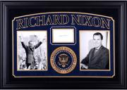 "Richard Nixon Autographed Cut Deluxe Horizontal Framing 3"" x 5"" PSA Slab"