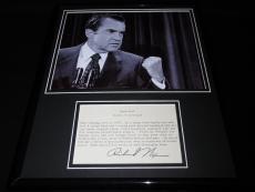 Richard Nixon Facsimile Signed Framed 11x14 Meat Loaf Recipe & Photo Display