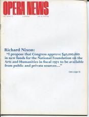 Richard Nixon Gilda Dalla Rizza Imogen & Gustav Holst Jan 24 1970 Opera News
