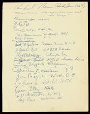 Richard Nixon & Pat Nixon + 30 Signed 9x12 Album Page