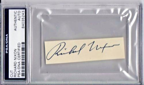 Richard Nixon President Signed Autographed Slabbed Cut PSA/DNA Authen 84035243
