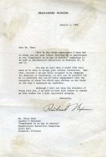 Richard Nixon Psa/dna Signed 1962 Letter Authentic Autograph