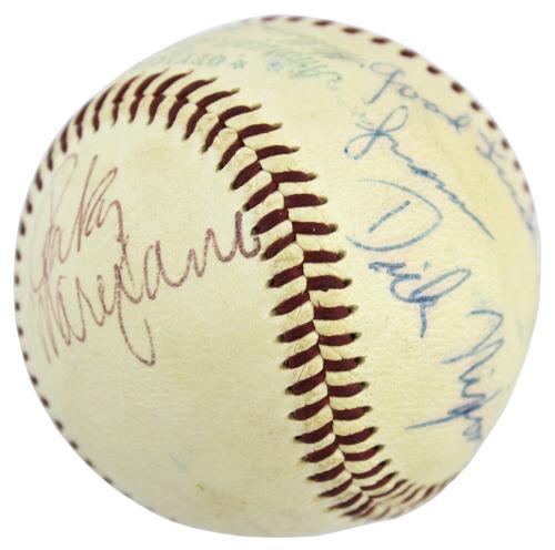 Richard Nixon, Rocky Marciano & George Jessel Signed OAL Baseball PSA #AC00206