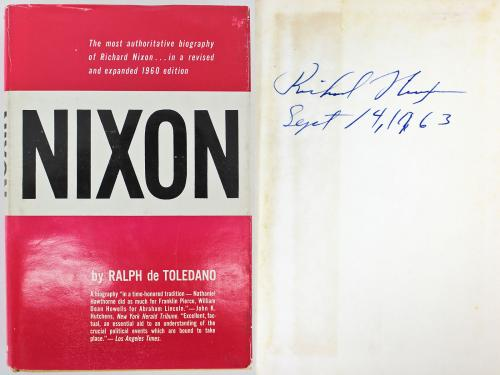 "Richard Nixon ""Sept 14, 1963"" Signed Hard Cover Nixon Autobiography BAS #A72817"