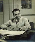 Richard Nixon Signed 11X14 Black & White Photo Autographed JSA #Z23661