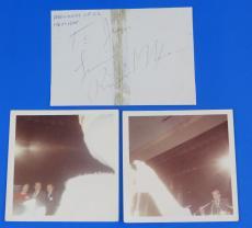 RICHARD NIXON SIGNED 3.25x4.75 CUT PAPER ~ JSA LOA #Z33161 ~ US PRESIDENT ~ Insc