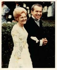 Richard Nixon Signed 8X10 Photo With First Lady Pat PSA/DNA #W03039