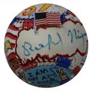 Richard Nixon Signed Charles Fazzino Pop Art Baseball JSA