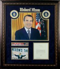 Richard Nixon Signed & Framed 1971 White House Letter PSA/DNA #V12367