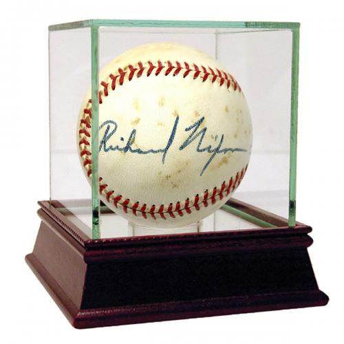 Richard Nixon Signed OAL Cronin Baseball PSA/DNA 6.5