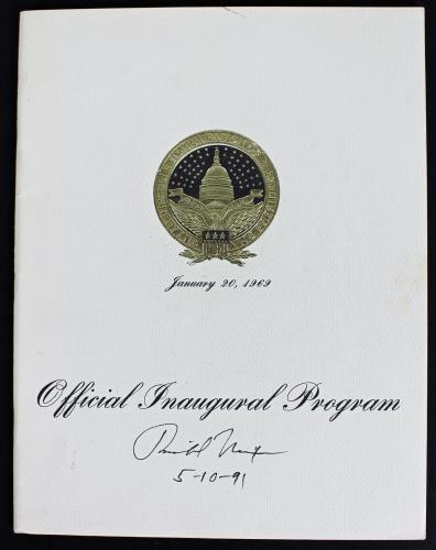 """Richard Nixon Signed Official Inaugural Program Dated """"5-10-91"""" PSA/DNA #AB10078"""
